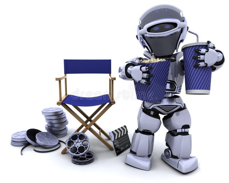 сода робота попкорна директоров стула иллюстрация вектора