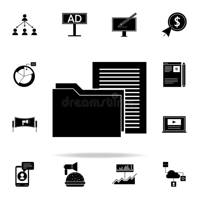 содержимый значок управления Комплект значков маркетинга цифров всеобщий для сети и черни иллюстрация вектора