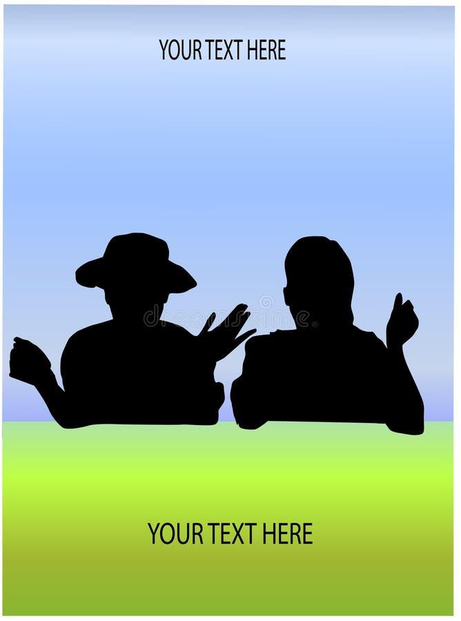 содружественная беседа ландшафта иллюстрация вектора
