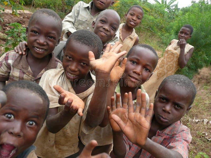 Содружественные малыши Бурундии стоковое изображение