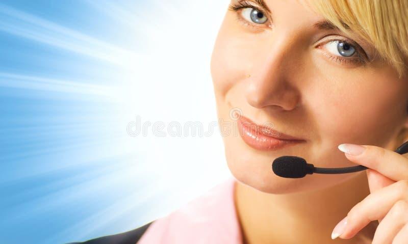 содружественный телефон оператора стоковое фото rf
