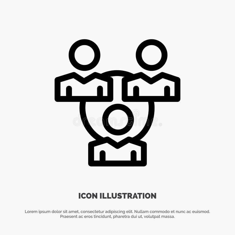 Соединение, встреча, офис, вектор значка линии связи бесплатная иллюстрация