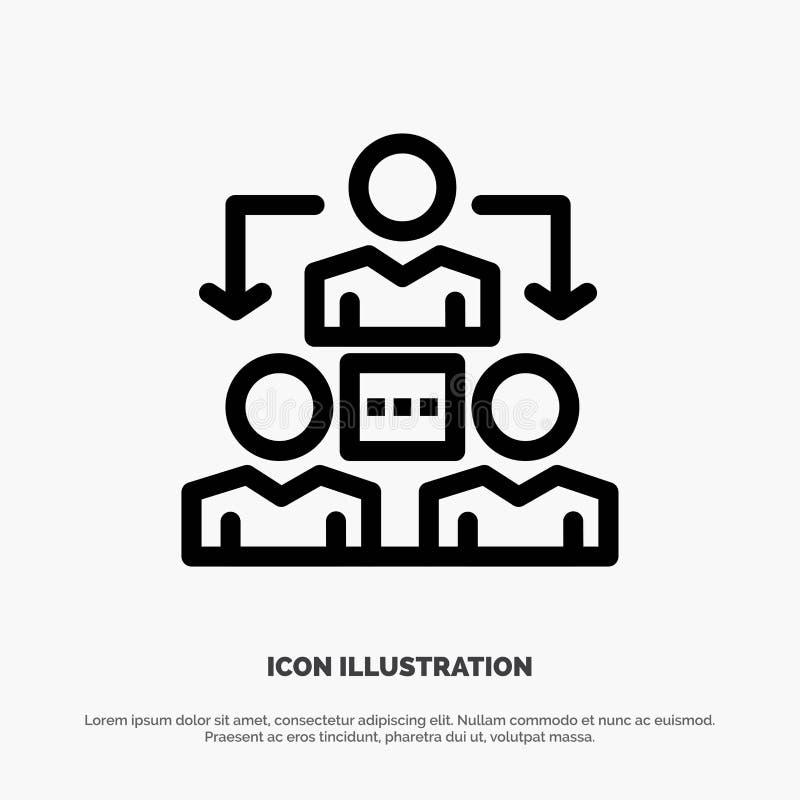 Соединение, встреча, офис, вектор значка линии связи иллюстрация штока