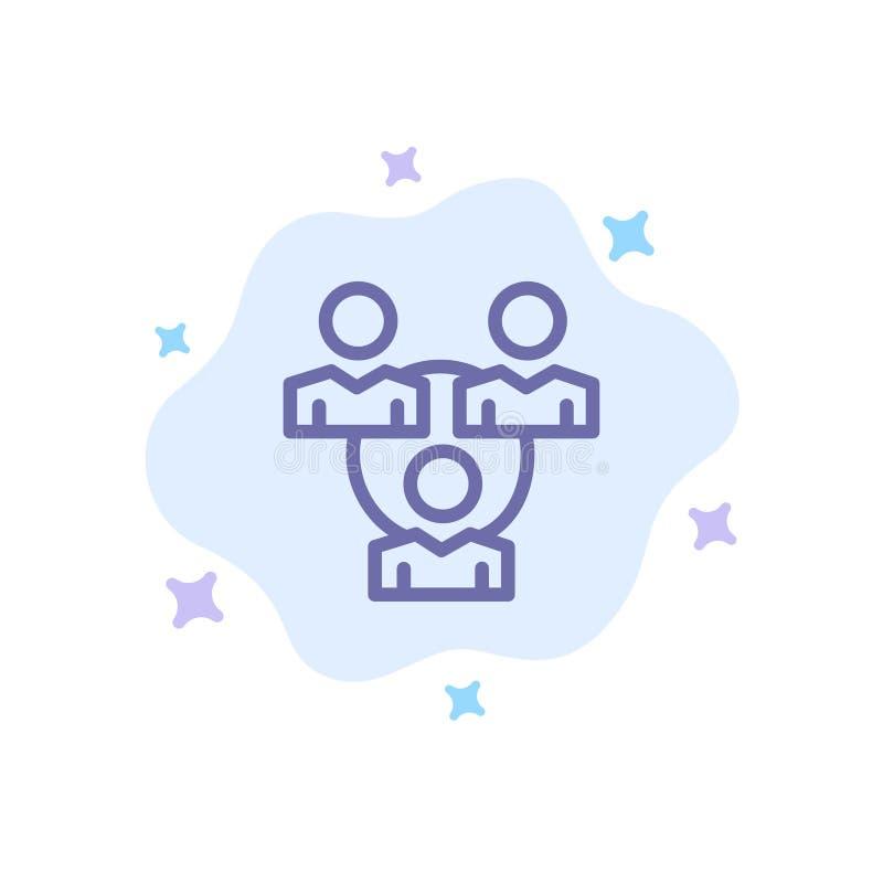 Соединение, встреча, офис, значок связи голубой на абстрактной предпосылке облака бесплатная иллюстрация