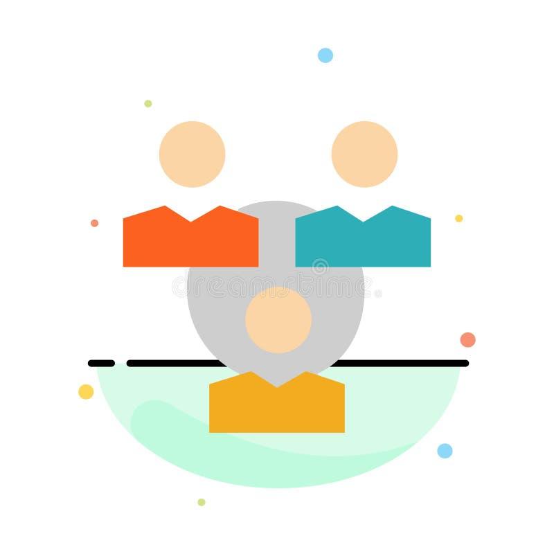 Соединение, встреча, офис, шаблон значка цвета конспекта связи плоский бесплатная иллюстрация