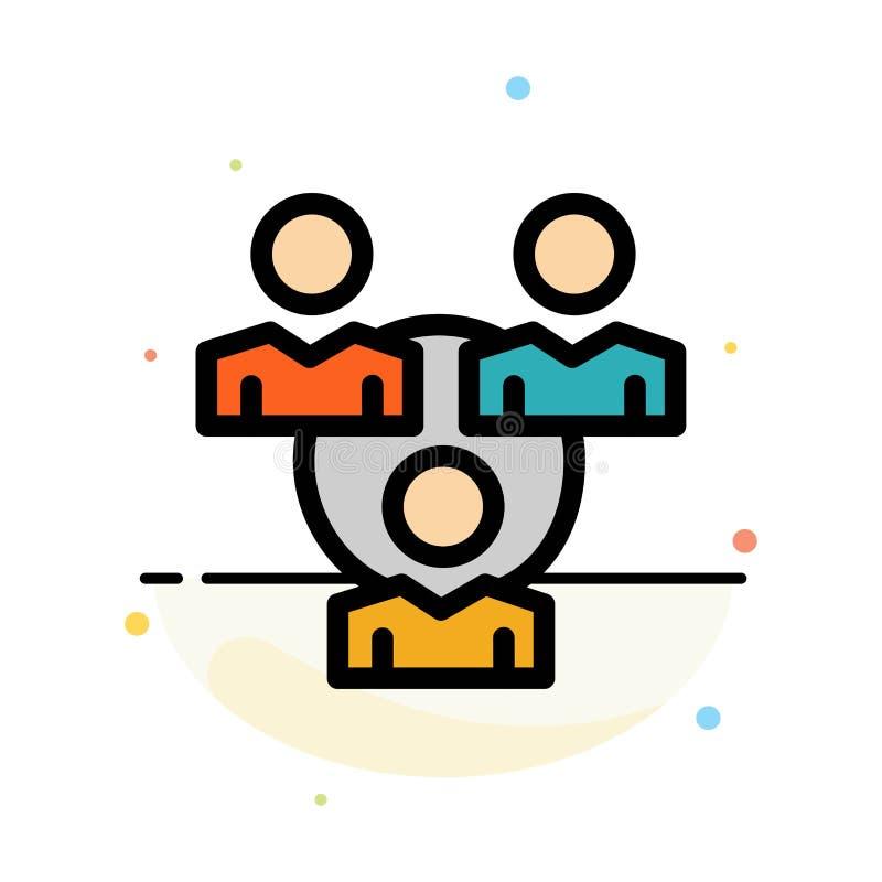 Соединение, встреча, офис, шаблон значка цвета конспекта связи плоский иллюстрация штока