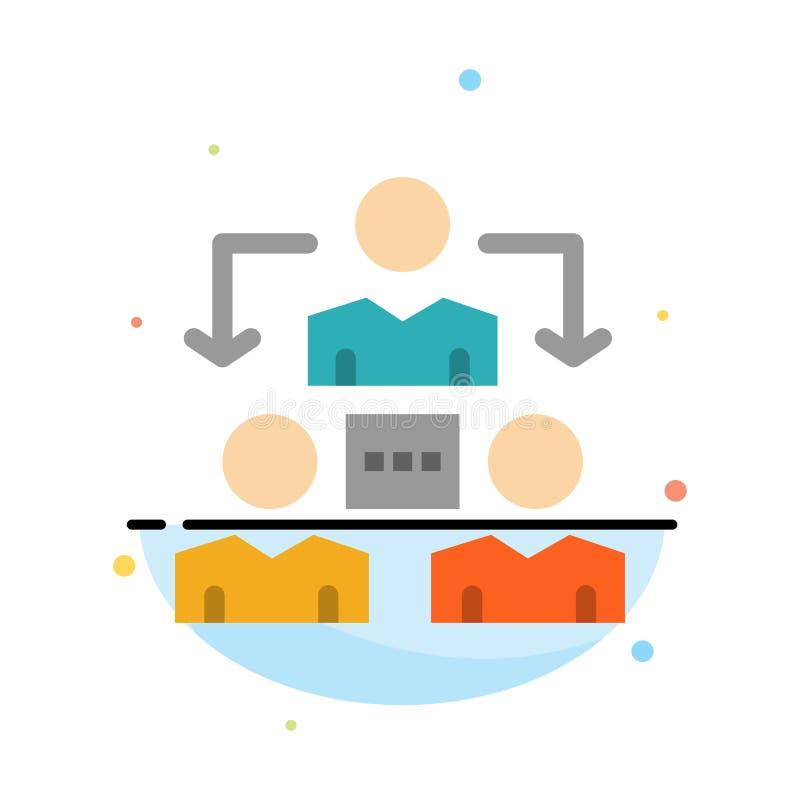 Соединение, встреча, офис, шаблон значка цвета конспекта связи плоский иллюстрация вектора
