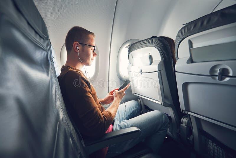 Соединение в самолете стоковая фотография