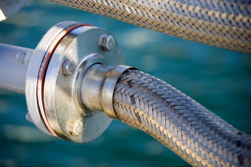 соединение гибкого трубопровода стоковая фотография