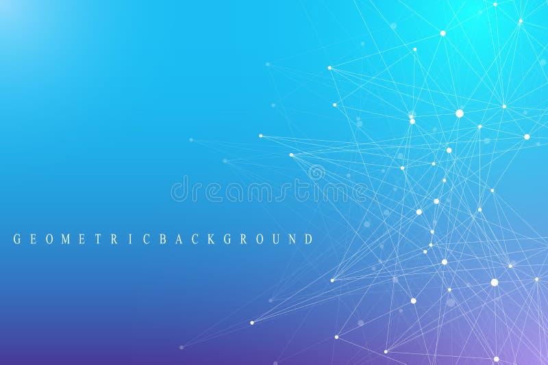 Соединение глобальной вычислительной сети Сеть и большая предпосылка визуализирования данных дело гловальное также вектор иллюстр иллюстрация вектора
