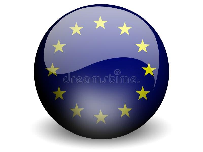 соединение европейского флага круглое иллюстрация штока
