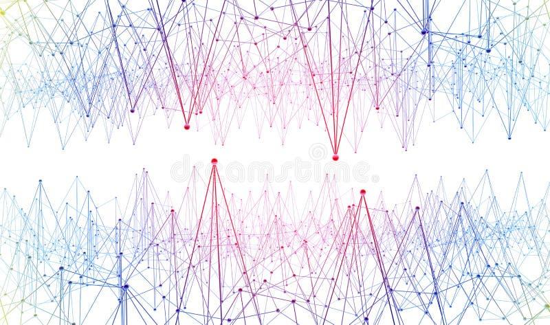 Соединение и сообщение Линии и структура точек бесплатная иллюстрация