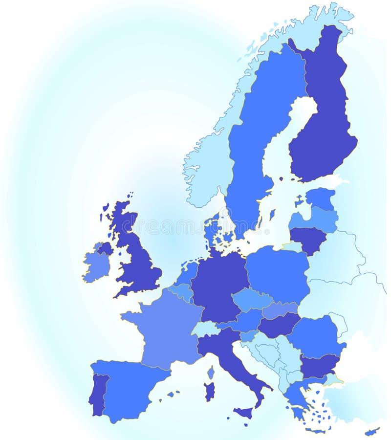 соединение карты европы иллюстрация вектора