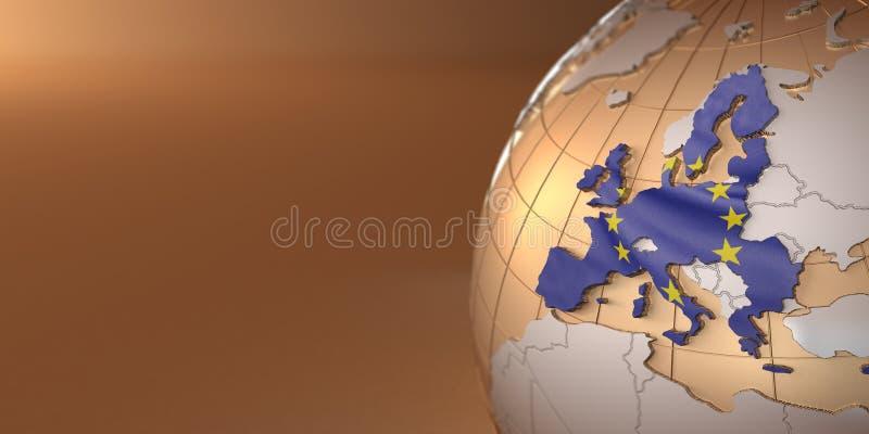 соединение карты земли европейское иллюстрация вектора