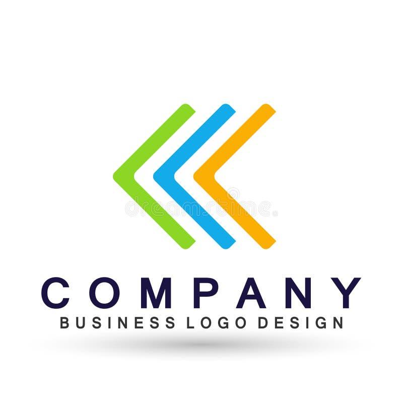 Соединение логотипа дела конспекта квадратное форменное на корпоративном инвестирует дизайн логотипа дела Финансовые инвестиции н иллюстрация вектора
