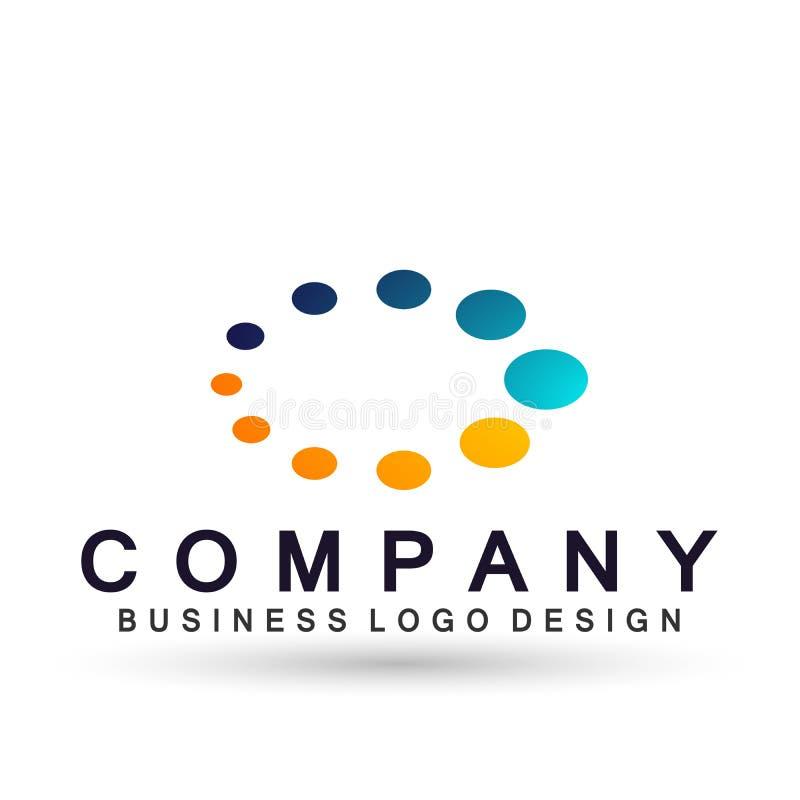 Соединение логотипа дела пузыря конспекта овальное форменное на корпоративном инвестирует дизайн логотипа дела Финансовые инвести иллюстрация вектора