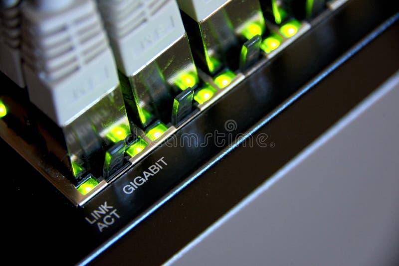 соединение локальных сетей гигабита стоковое изображение