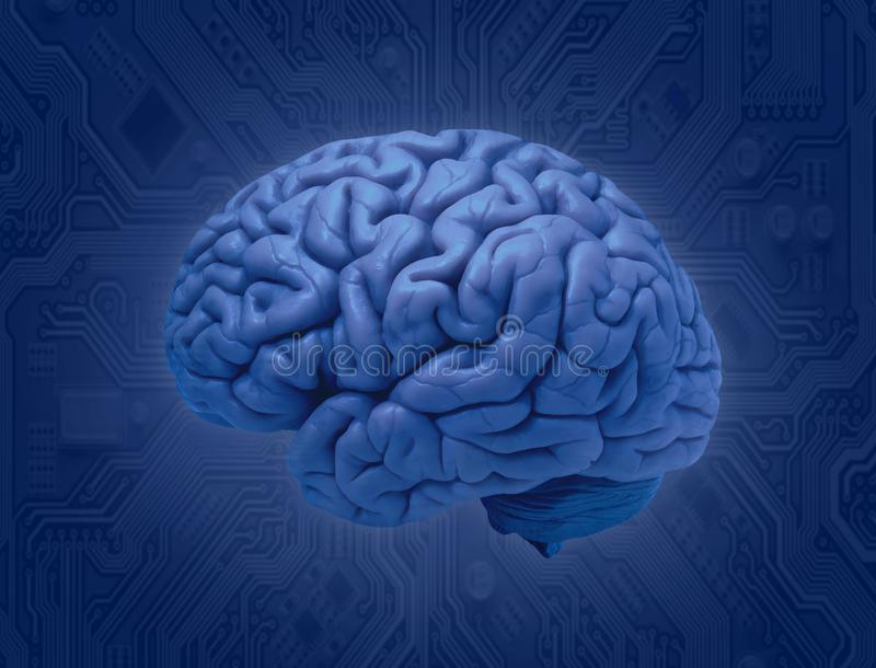 Соединение мозга и обломока иллюстрация штока