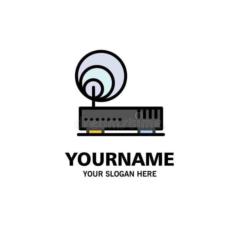 Соединение, оборудование, интернет, шаблон логотипа дела сети r иллюстрация штока