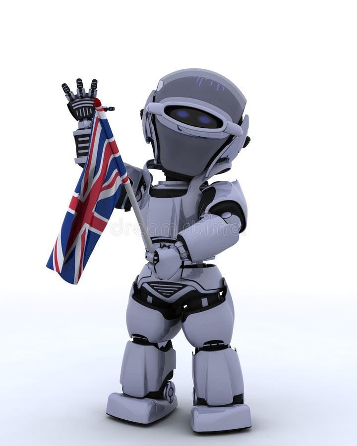 соединение робота jack флага бесплатная иллюстрация