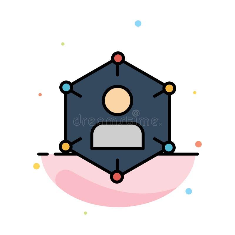 Соединение, сообщение, сеть, люди, личный, социальные, шаблон значка цвета конспекта потребителя плоский бесплатная иллюстрация