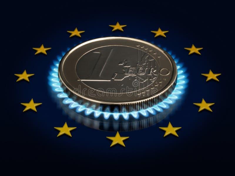 соединение флага одного евро монетки европейское иллюстрация вектора