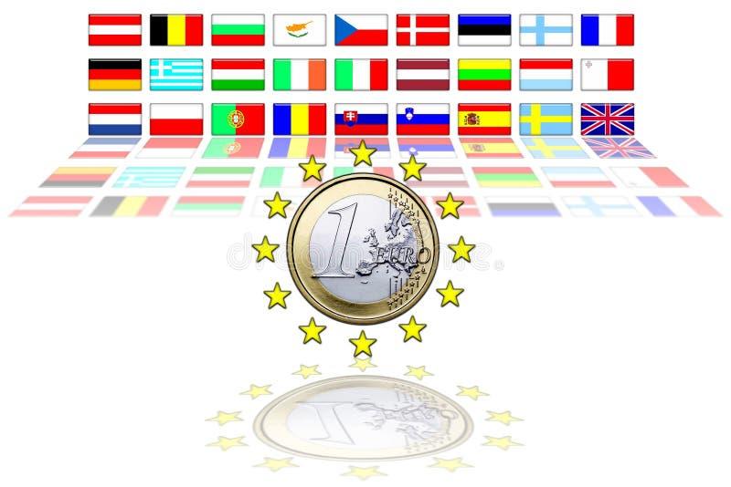 соединение 27 европейское флагов иллюстрация вектора