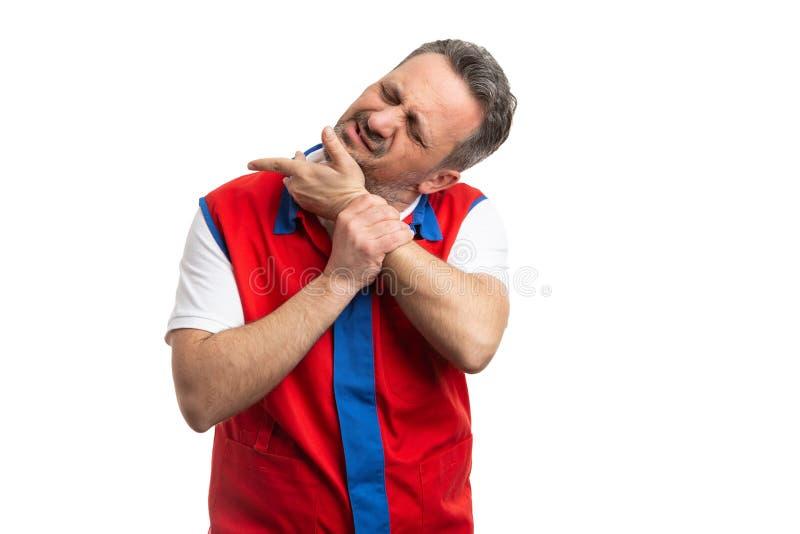 Соединения челюсти работника супермаркета треская стоковое фото