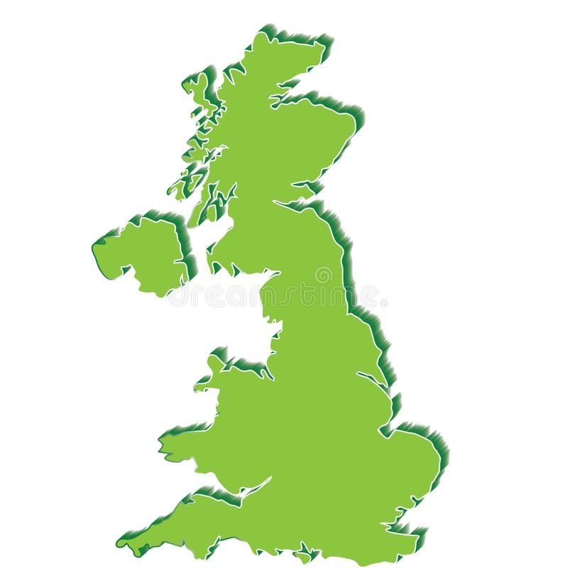 соединенная карта королевства стоковые изображения rf