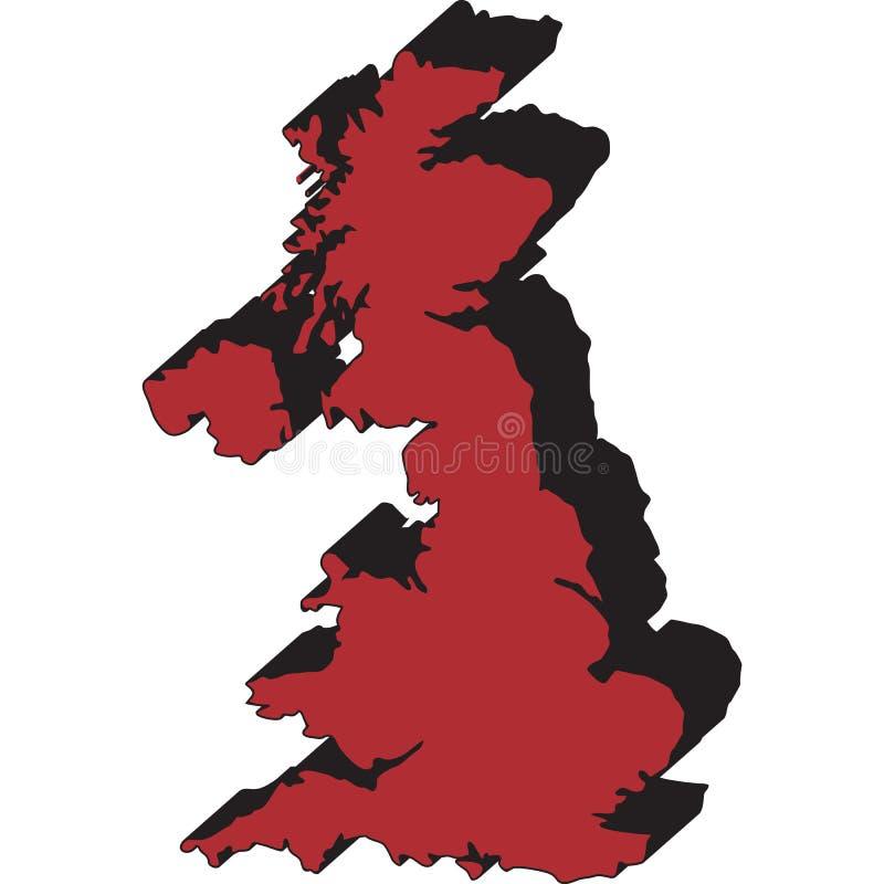 соединенная карта королевства стоковое изображение