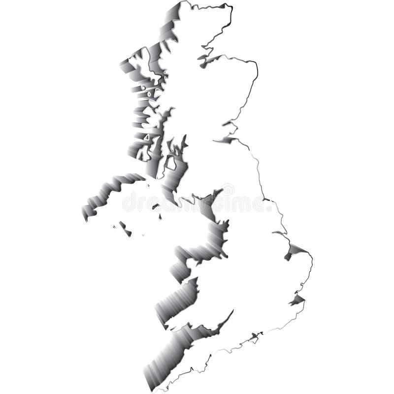 соединенная карта королевства стоковые фото