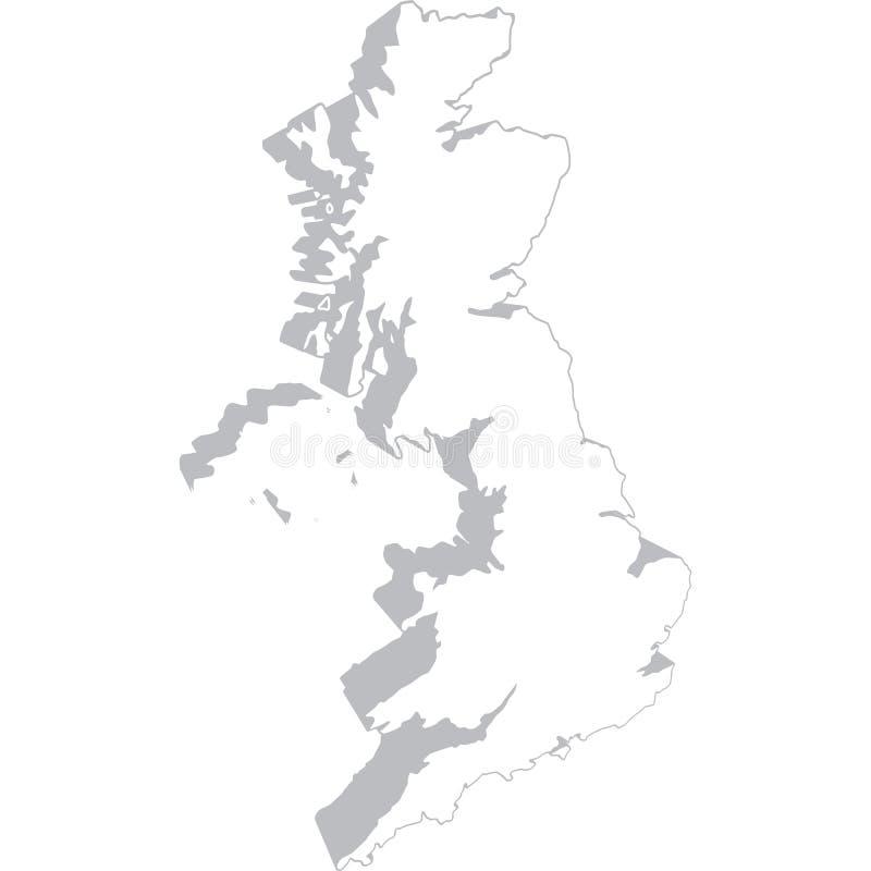 соединенная карта королевства стоковые изображения