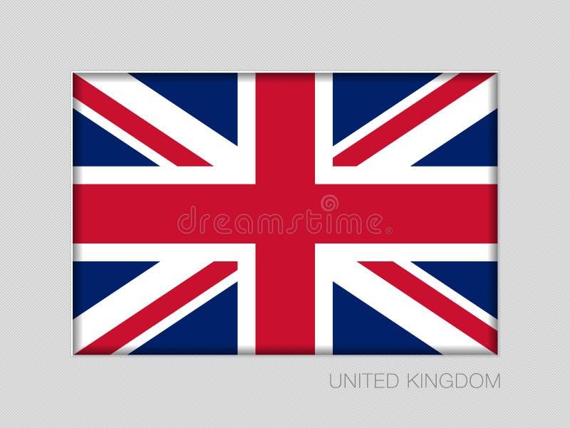 соединенное королевство флага Национальный коэффициент сжатия 2 до 3 Ensign на g иллюстрация штока
