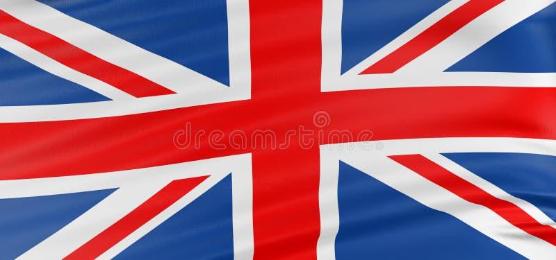 соединенное королевство флага 3d иллюстрация штока