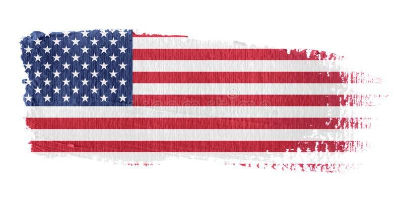соединенные государства флага brushstroke иллюстрация вектора