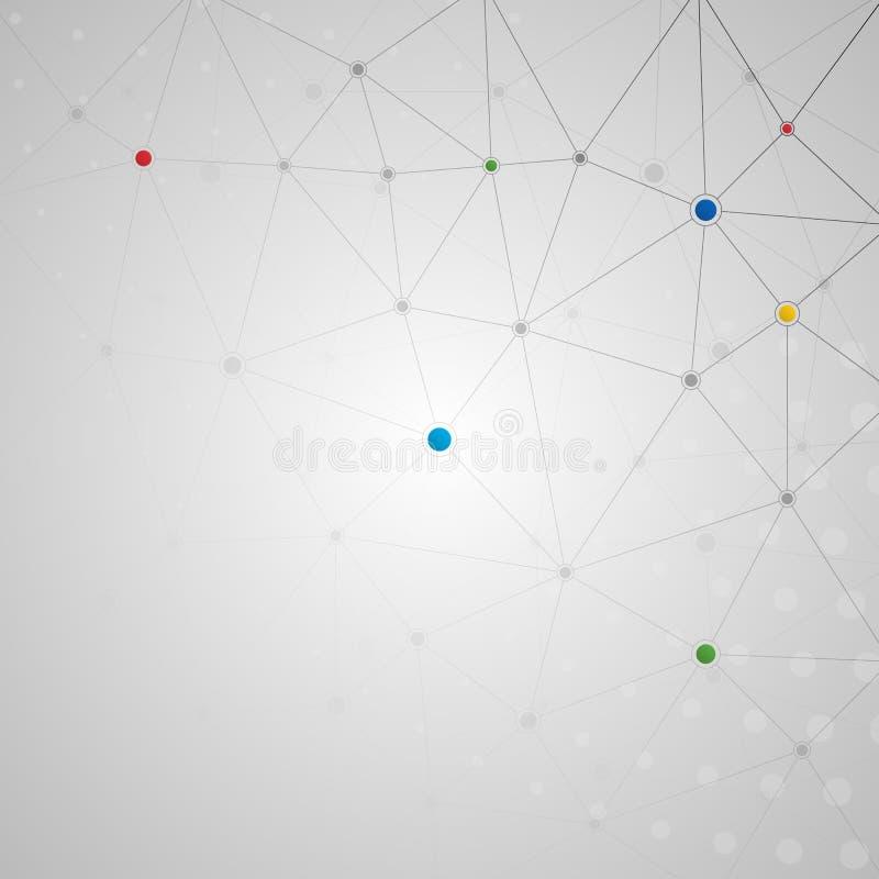 Соединенные линии и предпосылка точек иллюстрация вектора