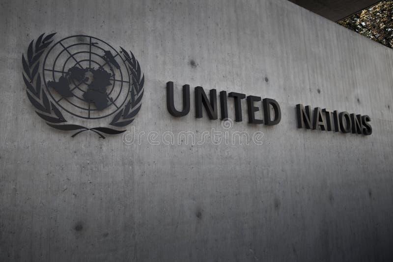 соединенные нации geneva значка стоковая фотография rf