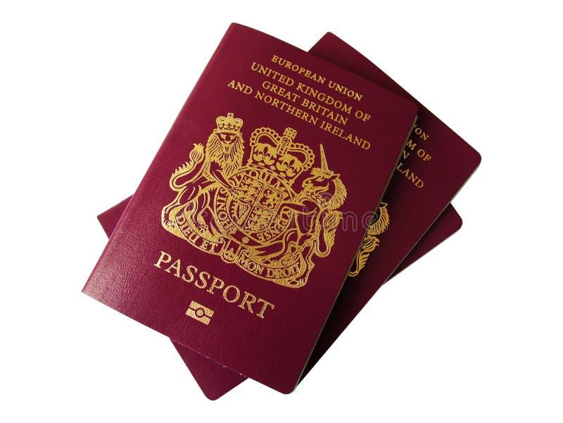 соединенные пасспорты королевства стоковые изображения rf