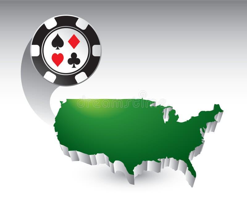 соединенные положения иконы обломока казино иллюстрация вектора