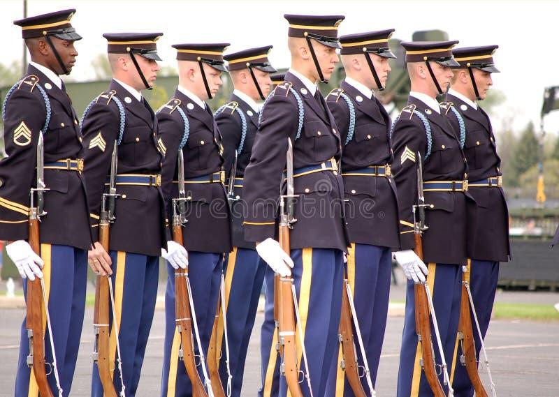 соединенные положения почетности предохранителя армии стоковые изображения rf