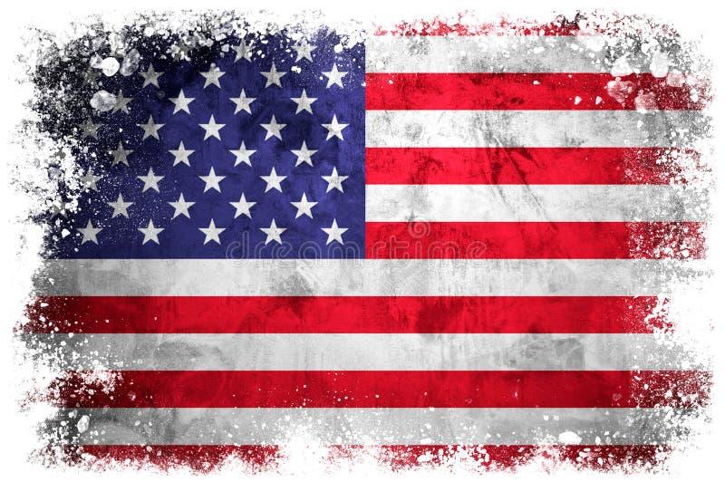 соединенные положения флага национальные иллюстрация штока