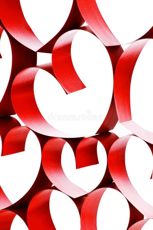 Соединенные сердца ленты стоковая фотография rf