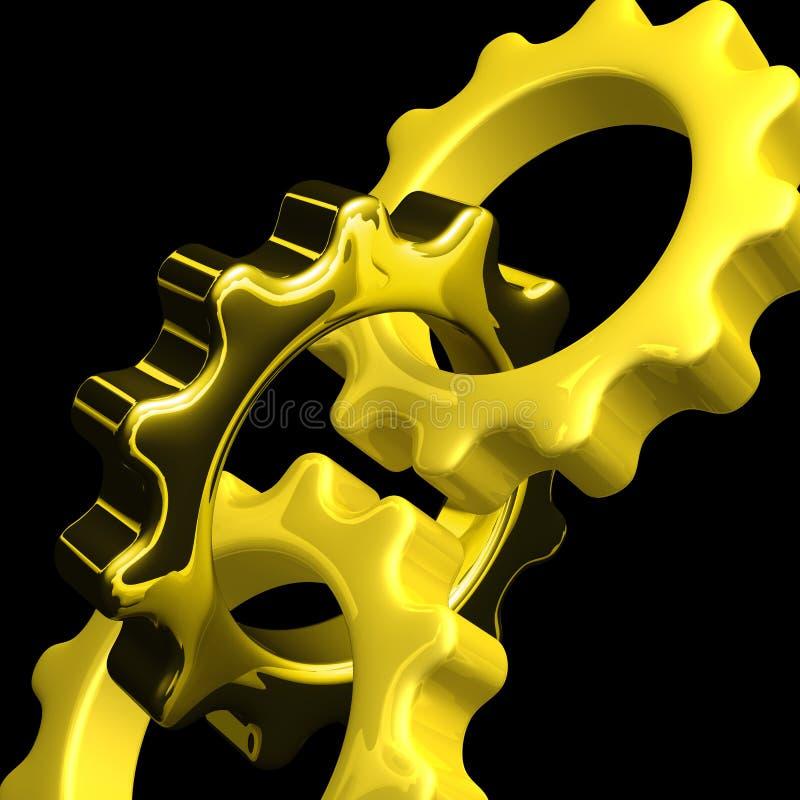 соединенные шестерни иллюстрация вектора