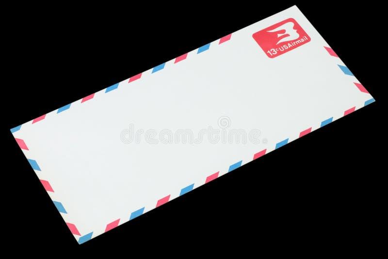 СОЕДИНЕННЫЕ ШТАТЫ АМЕРИКИ - ОКОЛО 1968: Старый конверт для воздушной почты стоковая фотография