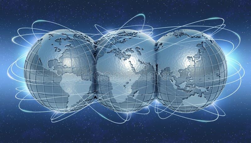 соединенный мир стоковое изображение