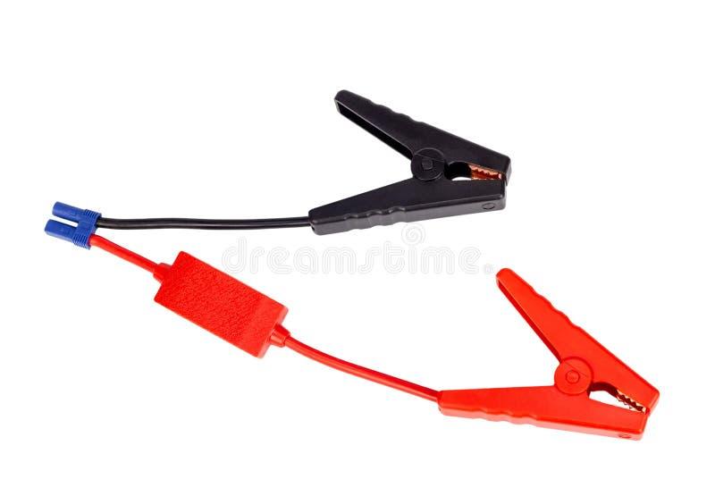 Соединительный кабель автомобильного аккумулятора для заряжателя или ракеты -носителя стоковые фотографии rf