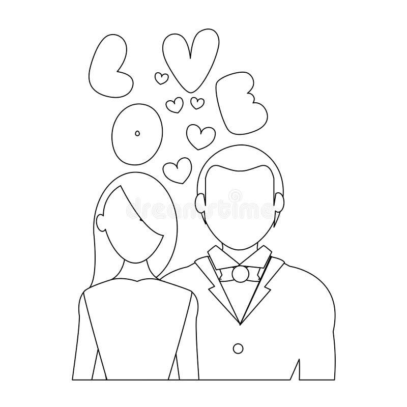 соедините влюбленность бесплатная иллюстрация