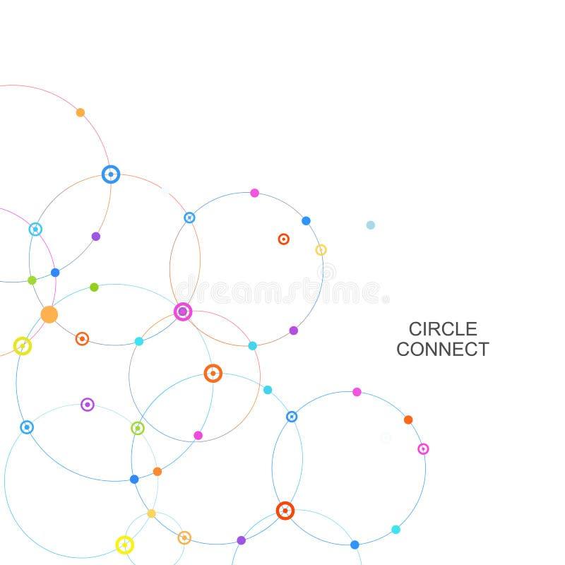 Соедините круг и укажите с пересечениями иллюстрация штока