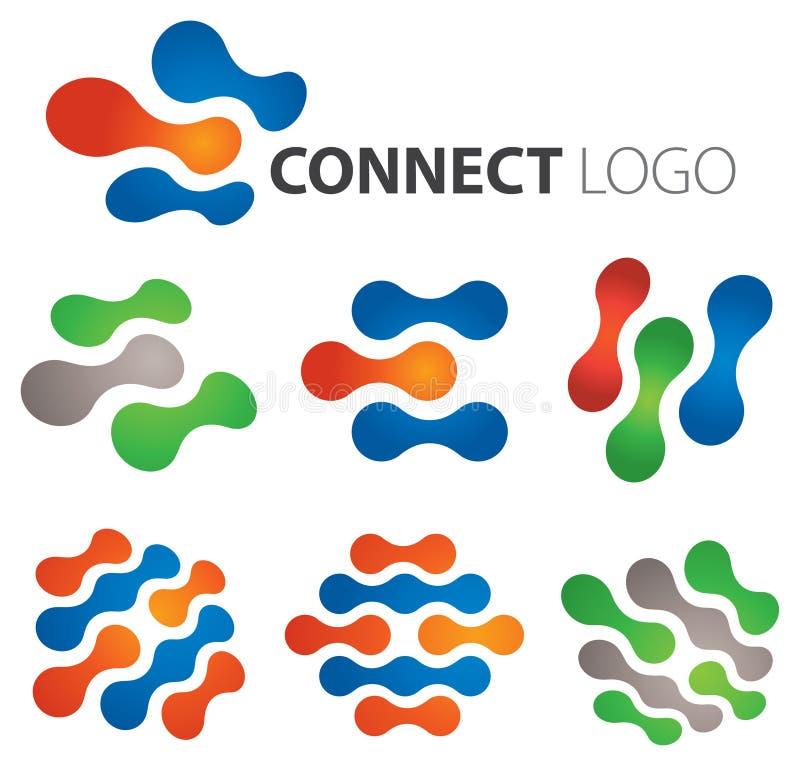 Соедините логос иллюстрация штока