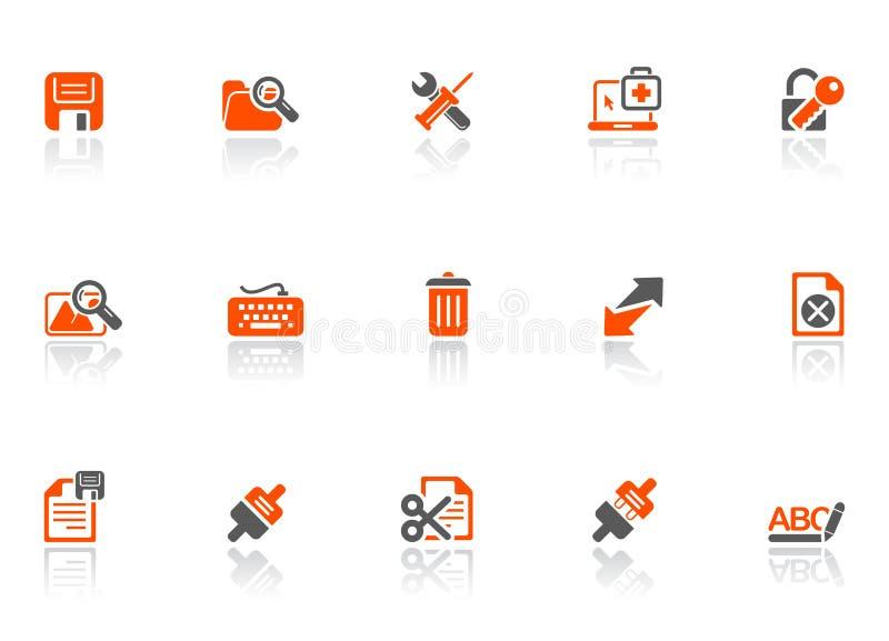 соедините сеть икон иллюстрация штока